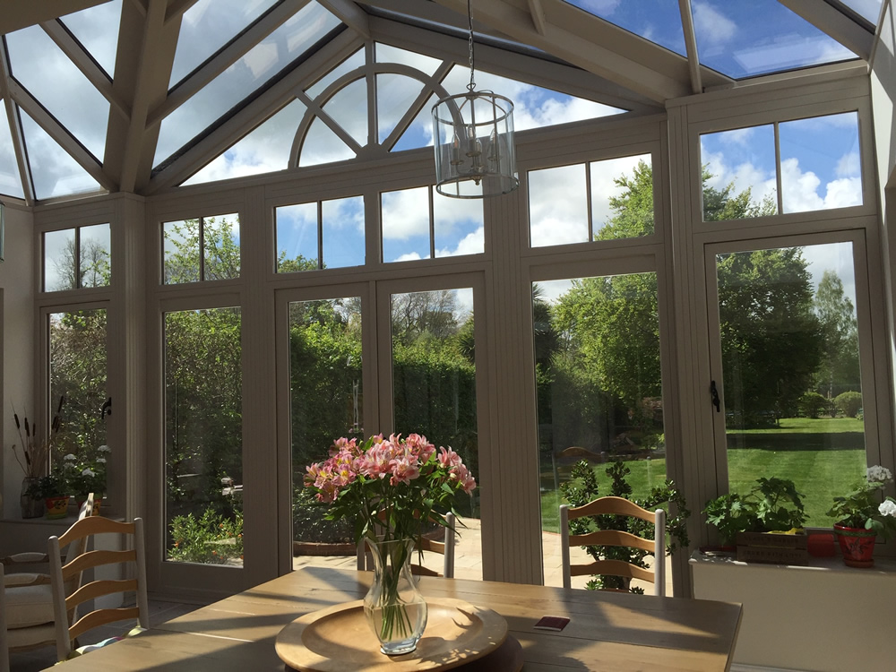 Overview of interior of a large orangery / conservatory
